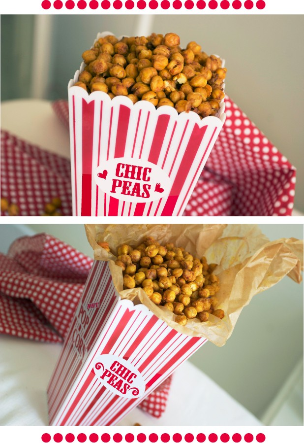 A baked chickpea snack