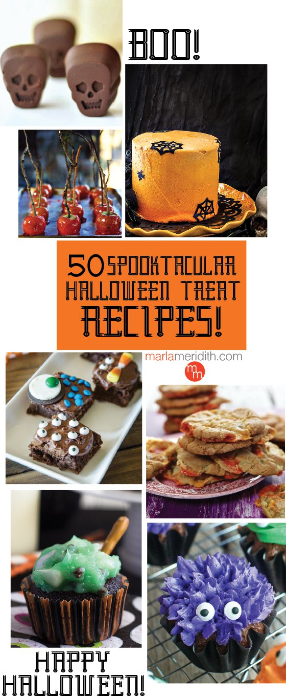50 Spooktacular Halloween Treat Recipes: your favorite bloggers featured on MarlaMeridith.com ( @marlameridith )