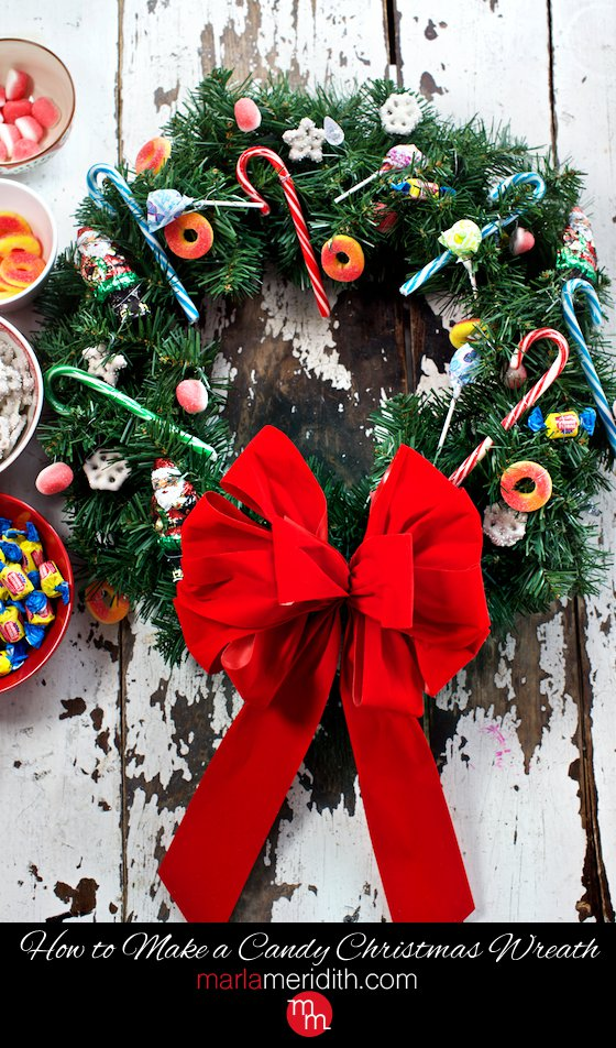 how to make a candy christmas wreath - How To Make Christmas Wreath