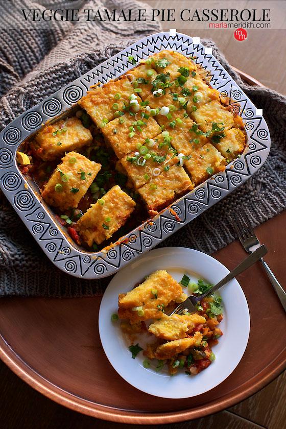 Veggie Tamale Pie recipe on MarlaMeridith.com
