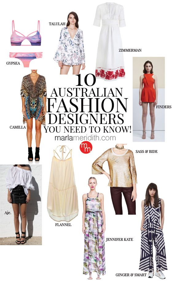 10 Australian Fashion Designers You Need To Know Marla Meridith