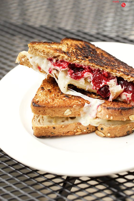 Best ever recipes for Thanksgiving Leftovers! Pepper jack, Turkey, Cranberry Grilled Cheese | MarlaMeridith.com @marlameridith