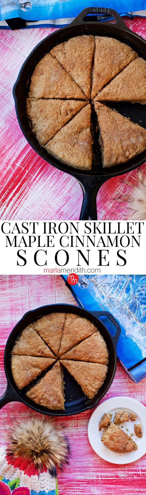 Cast Iron Skillet Maple Cinnamon Scones | MarlaMeridith.com ( @marlameridith )