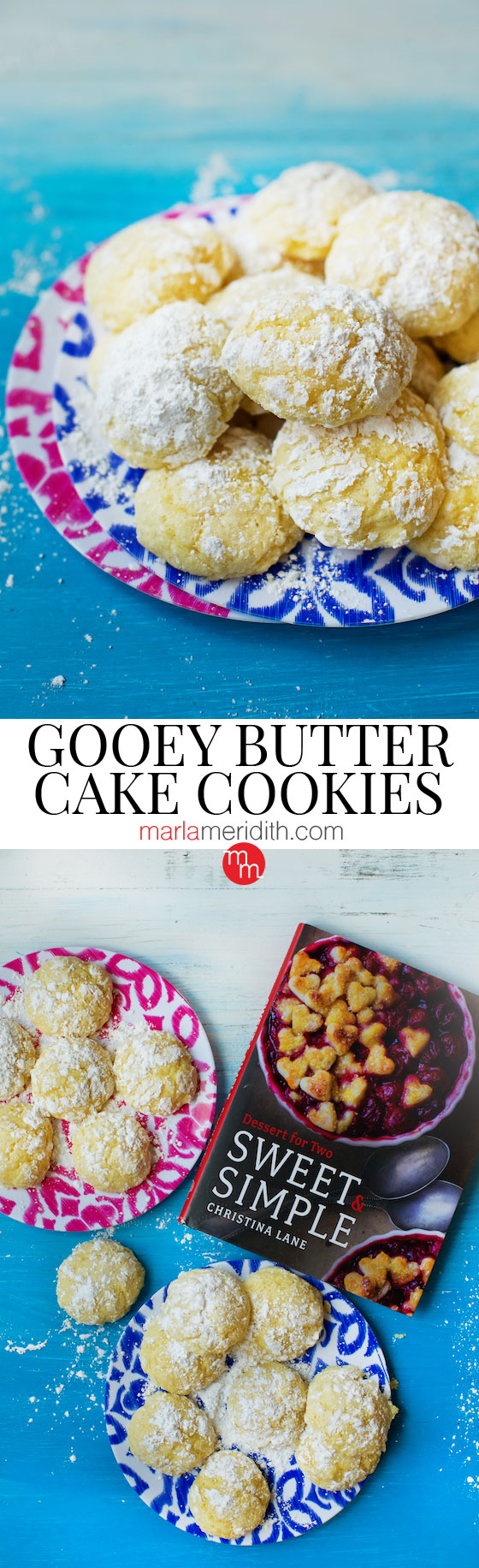Gooey Butter Cake Cookies from Sweet & Simple cookbook @dessertfortwo | MarlaMeridith.com ( @marlameridith )