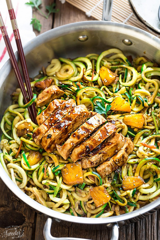 One Pot Teriyaki Chicken Zoodles recipe