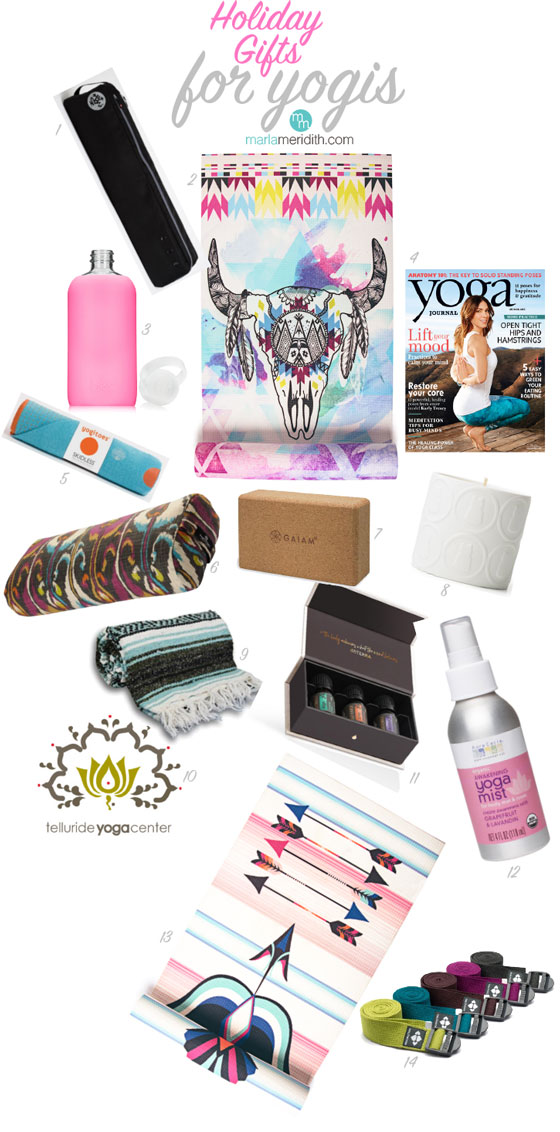 The Best Holiday Gifts for Yogis   MarlaMeridith.com #yoga #christmas #exercise #gifts