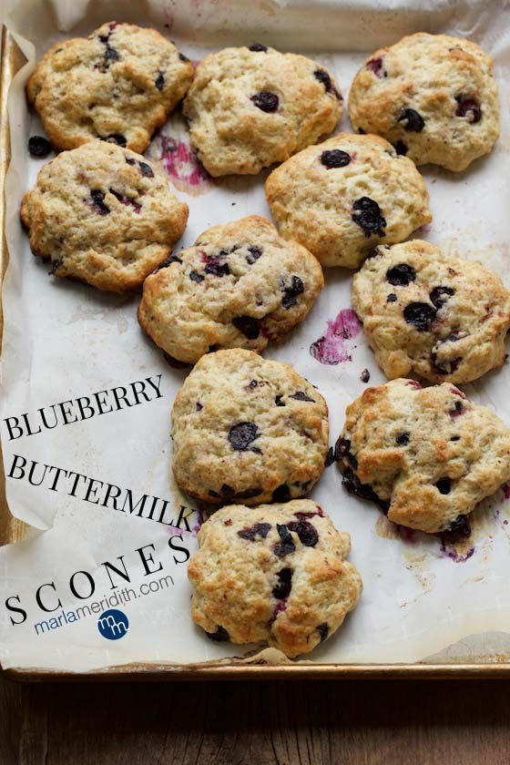 These are the Ultimate Blueberry Buttermilk Scones...bake some today! MarlaMeridith.com #baking #blueberry #scones