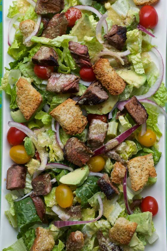 Caesar Salad with Grilled Steak - Marla Meridith