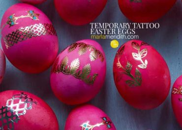 These Temporary Tattoo Easter Eggs are super easy to make and all of the directions are right in this post! All you need are hard boiled eggs, food dye and tattoos for this craft. (I have a list of great ones for you) MarlaMeridith.com