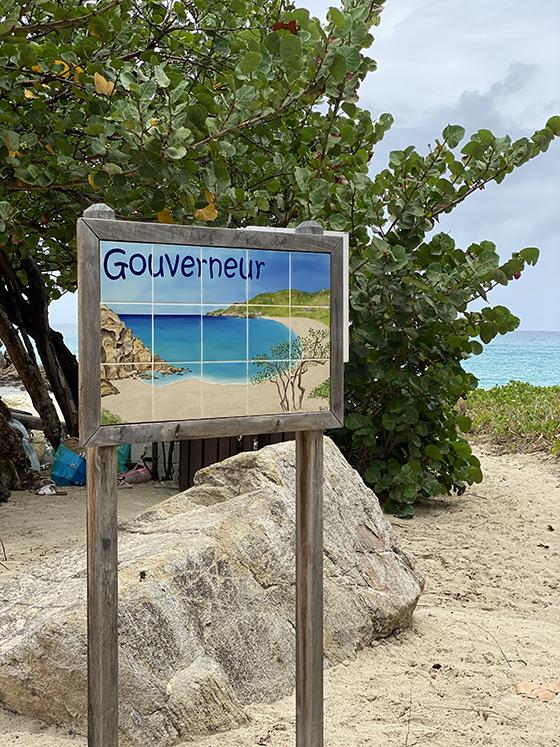 Goveneur beach in St. Barths